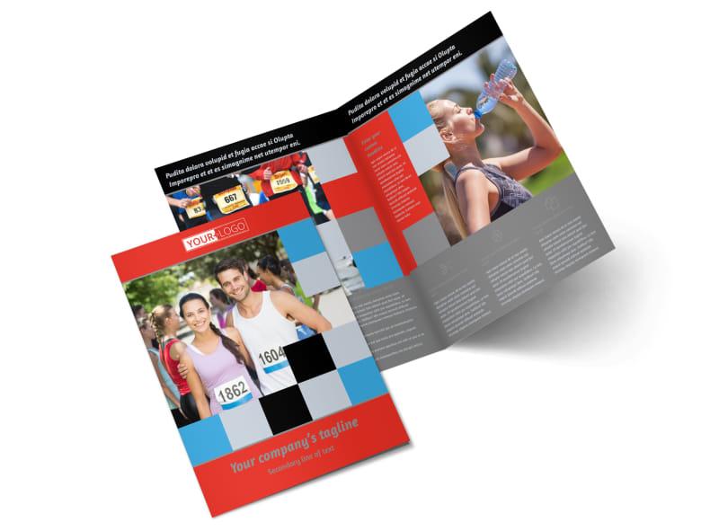 Marathon Race Fundraiser Bi-Fold Brochure Template 2