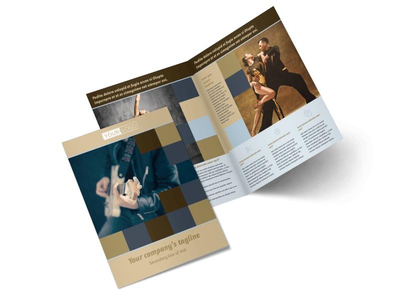 Outstanding Performing Arts School Bi-Fold Brochure Template 2