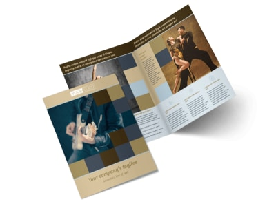 Outstanding Performing Arts School Bi-Fold Brochure Template 2