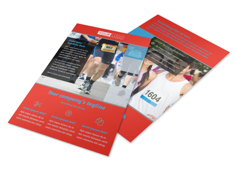 Marathon Race Fundraiser Flyer Template 3