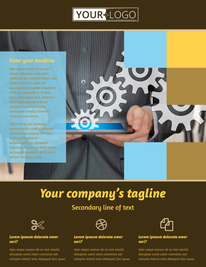 IT Consultants Flyer Template Preview 2