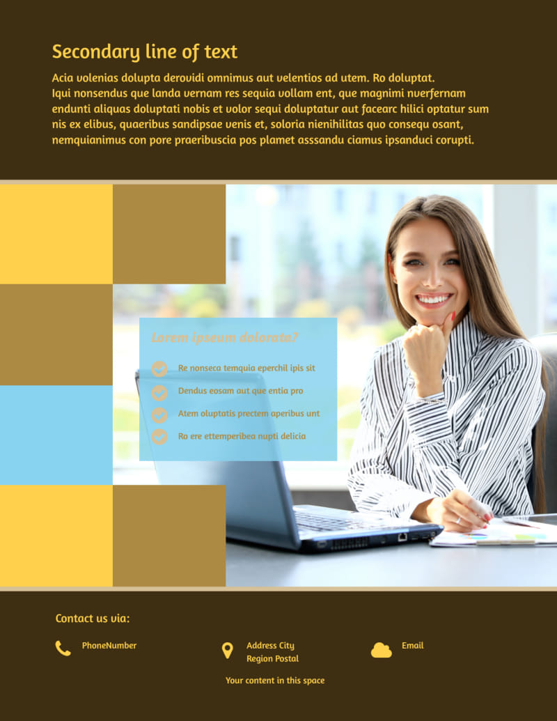 IT Consultants Flyer Template Preview 3