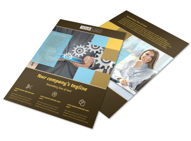 IT Consultants Flyer Template Preview 1
