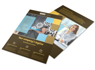 Information Technology Consultants Flyer Template preview