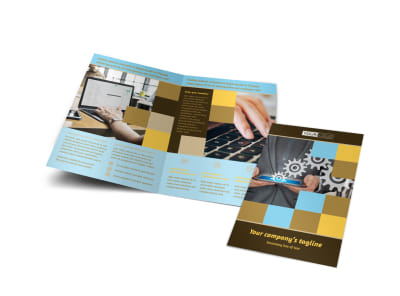 Information Technology Consultants Bi-Fold Brochure Template