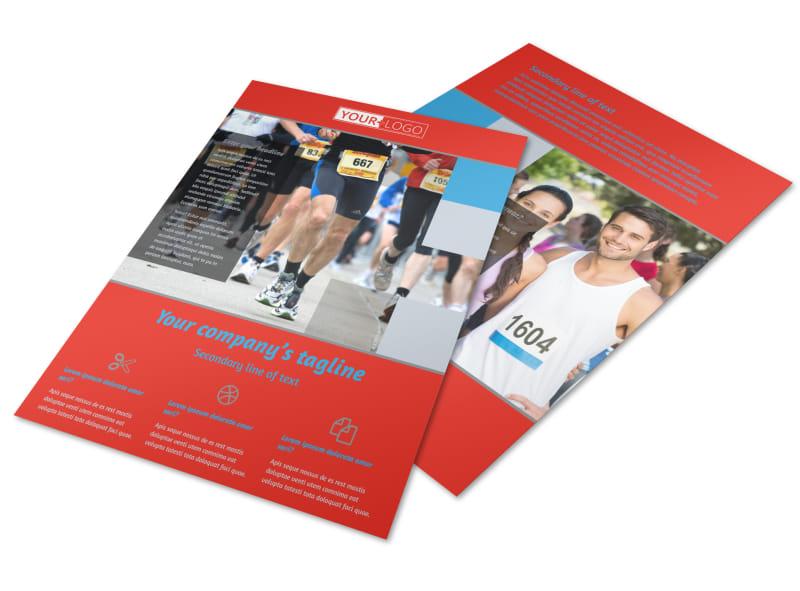 Marathon Race Fundraiser Flyer Template Preview 4