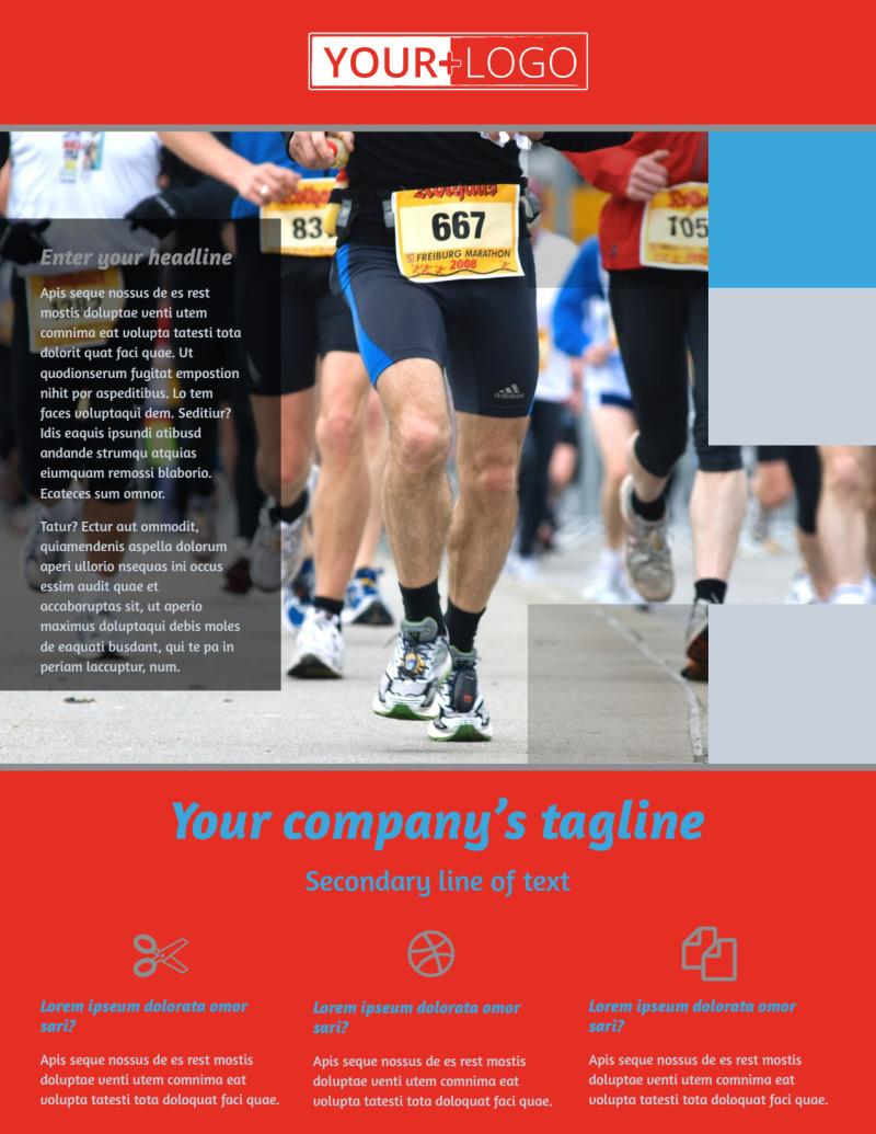 Marathon Race Fundraiser Flyer Template Preview 2