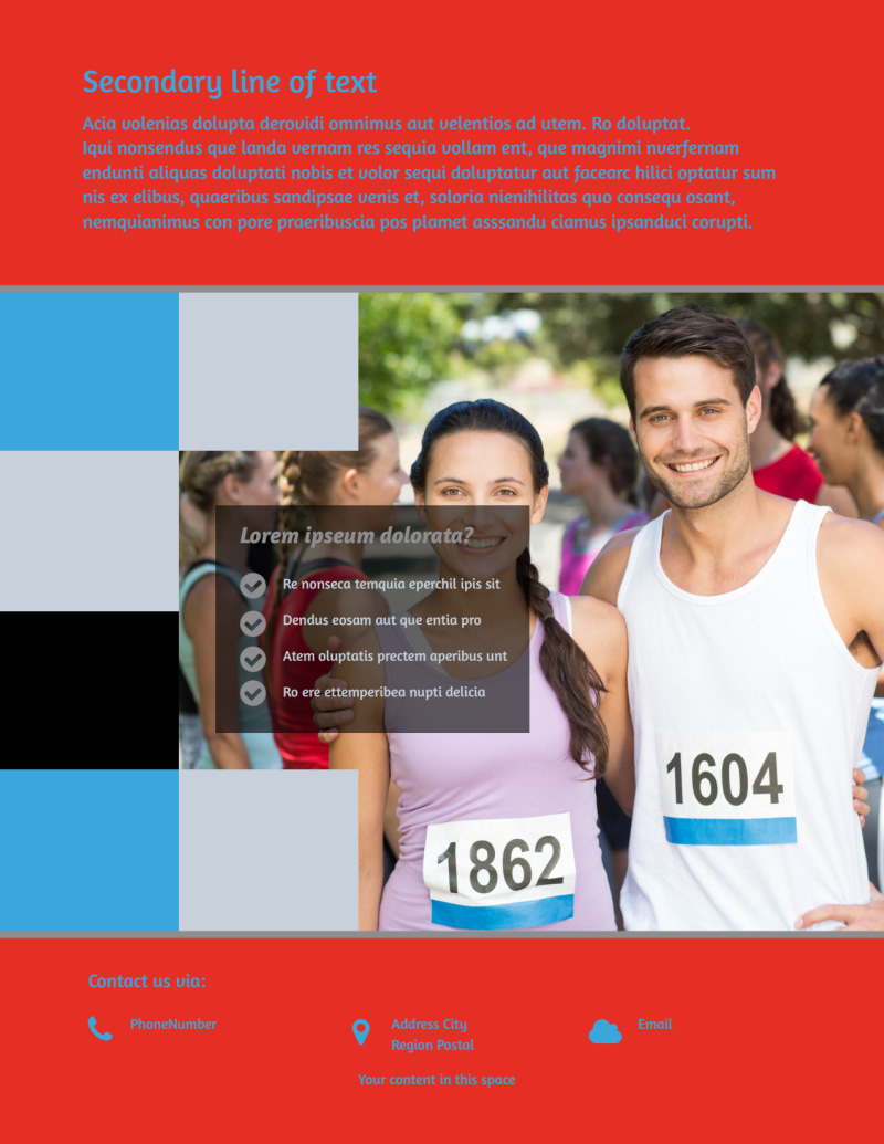 Marathon Race Fundraiser Flyer Template Preview 3