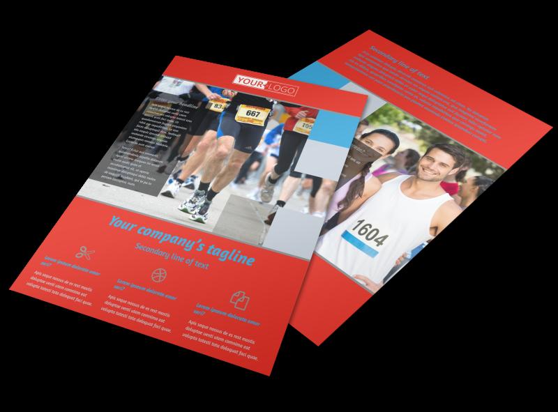 Marathon Race Fundraiser Flyer Template Preview 1