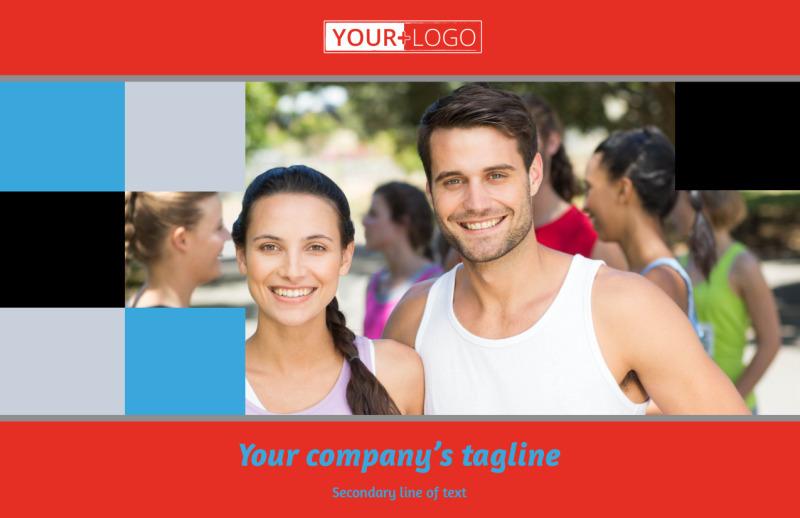 Marathon Race Fundraiser Postcard Template Preview 2