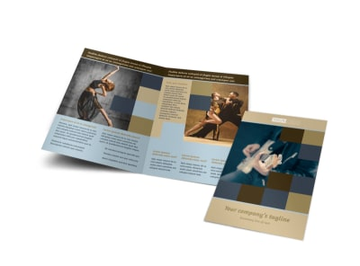Outstanding Performing Arts School Bi-Fold Brochure Template