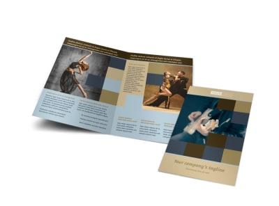 Outstanding Performing Arts School Bi-Fold Brochure Template