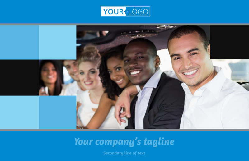 Party Bus Postcard Template Preview 2