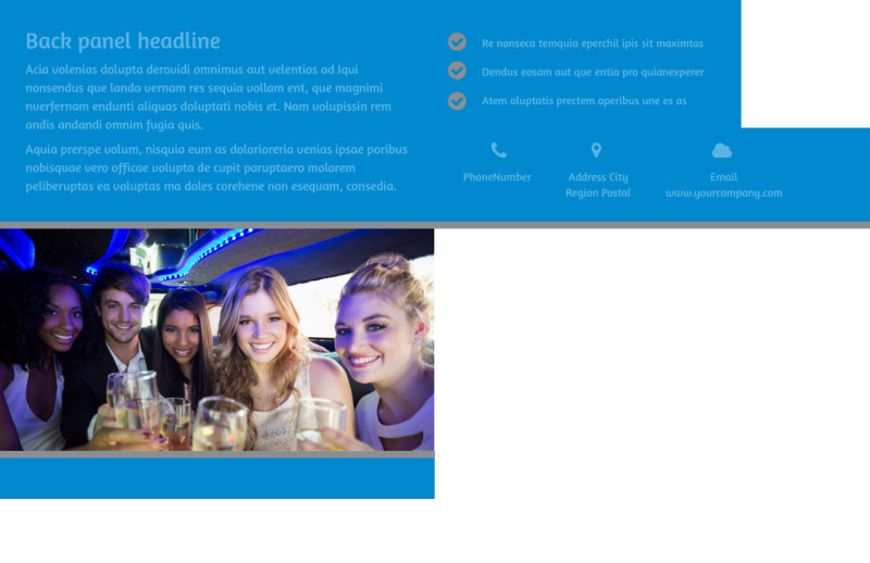 Party Bus Postcard Template Preview 3