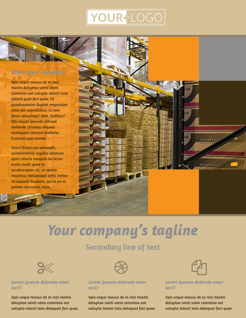 Warehouse & Distribution Center Flyer Template Preview 2