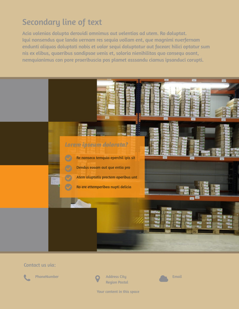 Warehouse & Distribution Center Flyer Template Preview 3
