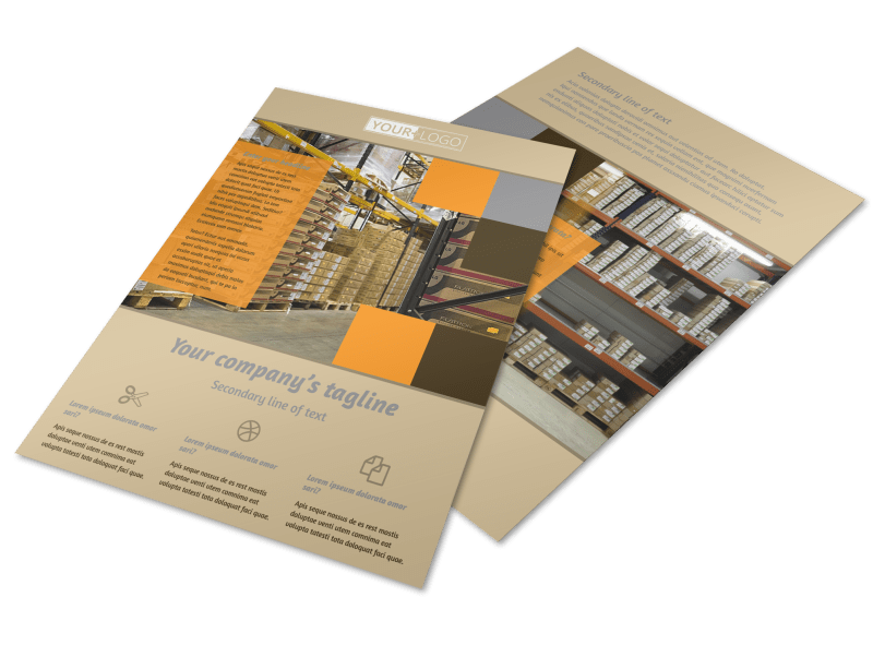 Warehouse & Distribution Center Flyer Template Preview 1