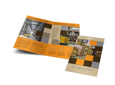 Warehouse & Distribution Center Bi-Fold Brochure Template