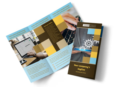 Information Technology Consultants Tri-Fold Brochure Template