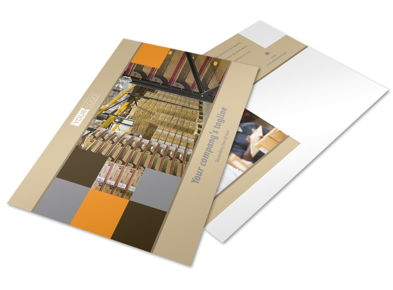 Warehouse & Distribution Center Postcard Template Preview 4