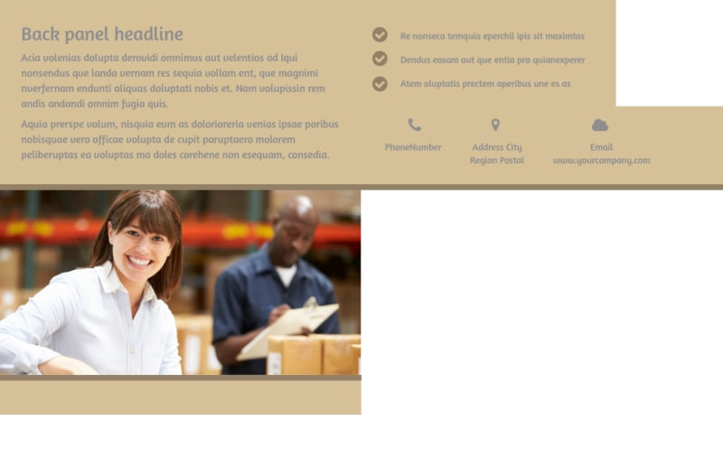 Warehouse & Distribution Center Postcard Template Preview 3
