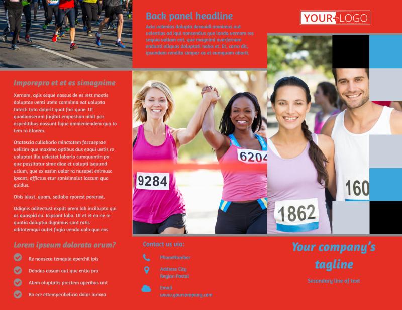 Marathon Race Fundraiser Brochure Template Preview 2