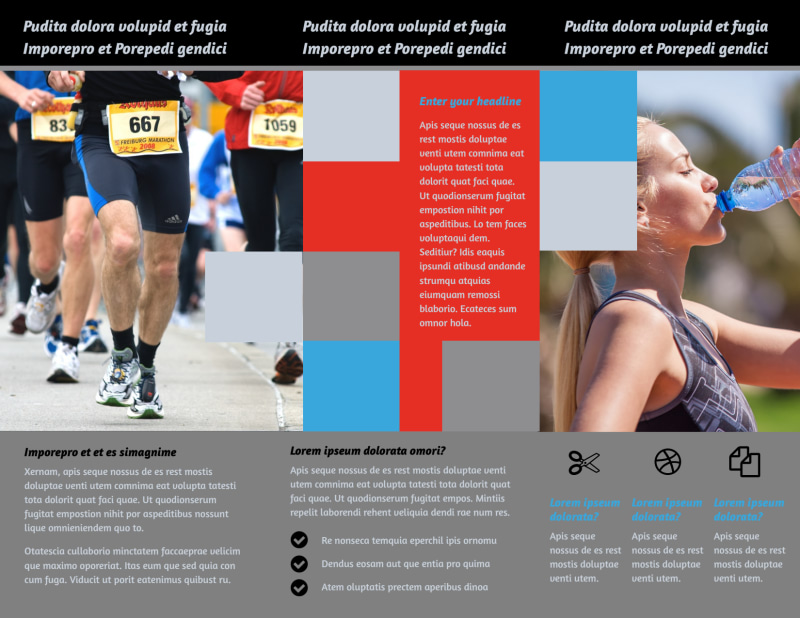 Marathon Race Fundraiser Brochure Template Preview 3