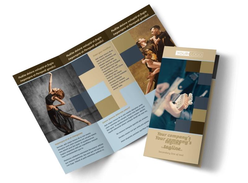 Outstanding Performing Arts School Brochure Template Mycreativeshop
