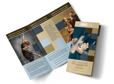 Outstanding Performing Arts School Tri-Fold Brochure Template
