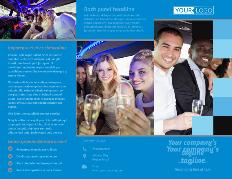 Party Bus Brochure Template Preview 2