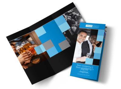 Party Bus Tri-Fold Brochure Template