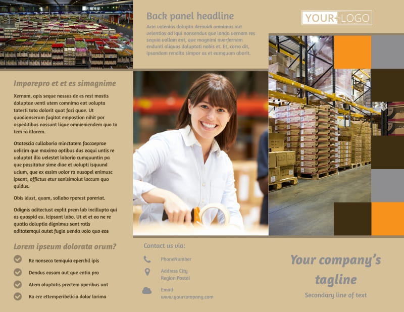 Warehouse & Distribution Center Brochure Template Preview 2
