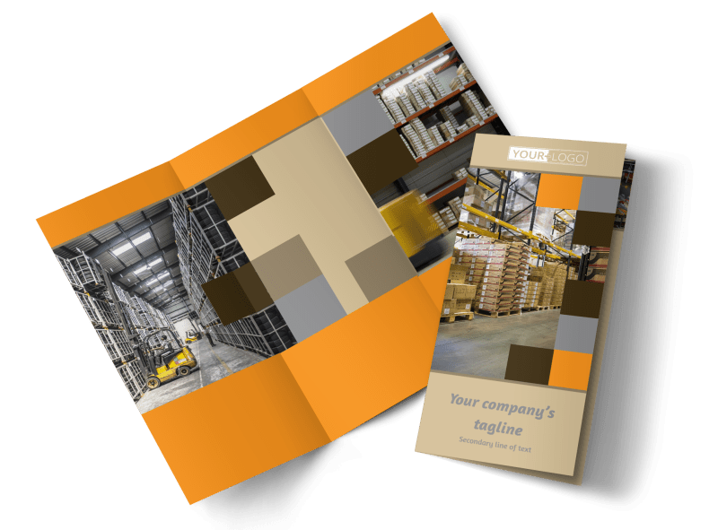 Warehouse & Distribution Center Brochure Template Preview 1