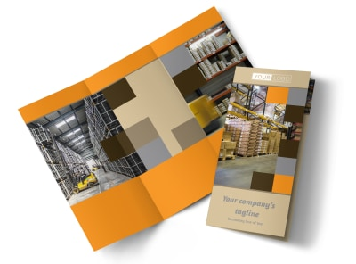 Warehouse & Distribution Center Tri-Fold Brochure Template