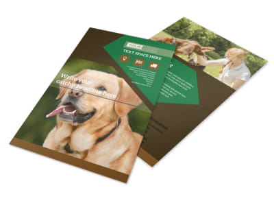Dog Kennel & Pet Day Care Flyer Template 3