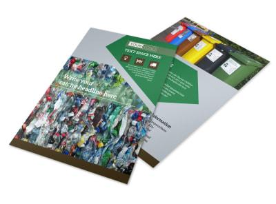 Litter & Recycling Center Flyer Template 3 preview