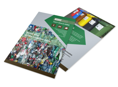 Litter & Recycling Center Flyer Template 3 preview