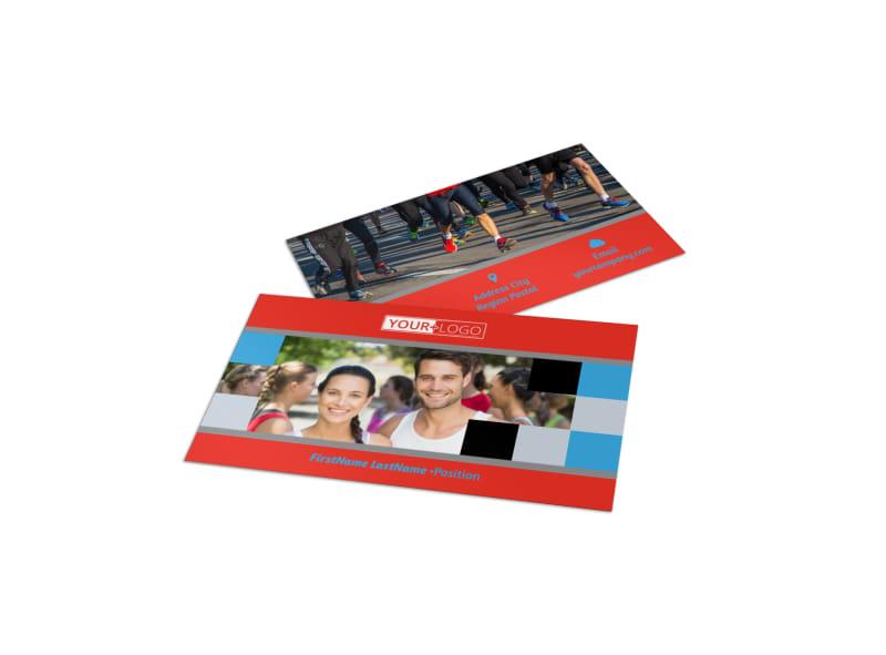 Marathon Race Fundraiser Business Card Template Preview 4