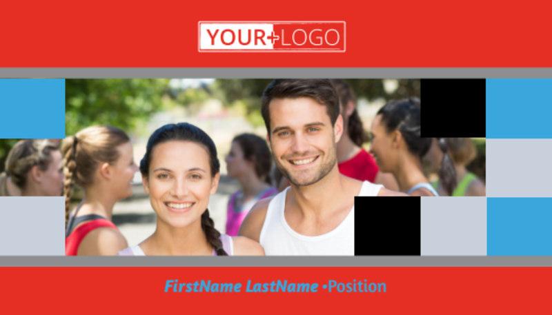 Marathon Race Fundraiser Business Card Template Preview 2