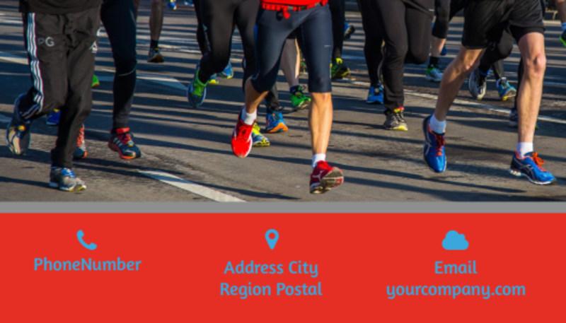Marathon Race Fundraiser Business Card Template Preview 3