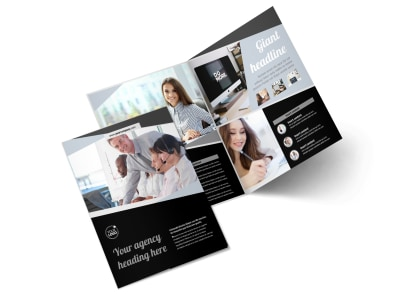 Transcripts Translation Service Bi-Fold Brochure Template 2