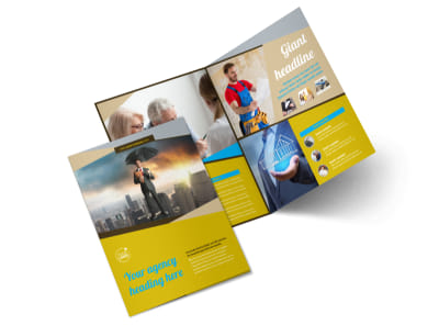 Business Insurance Bi-Fold Brochure Template 2