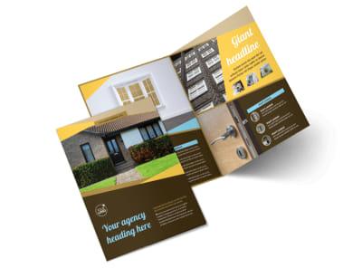 Window & Door Repair Bi-Fold Brochure Template 2