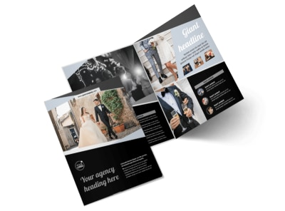 Wedding Video Service Bi-Fold Brochure Template 2
