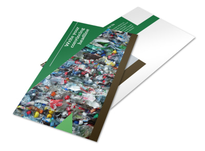 Litter & Recycling Center Postcard Template 2 preview