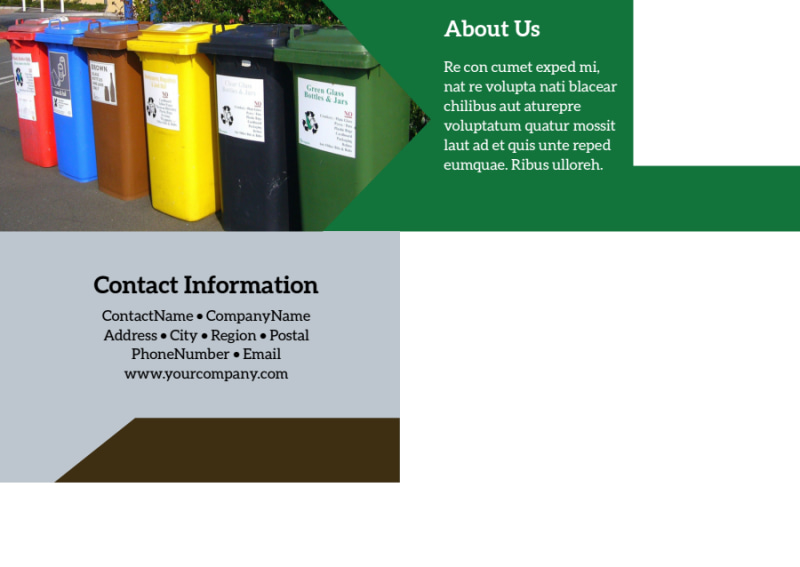 Litter & Recycling Center Postcard Template Preview 3