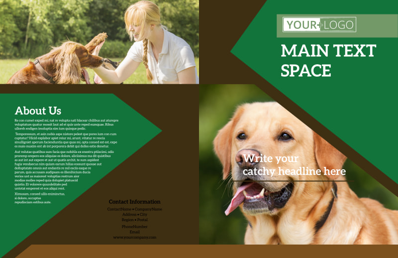 Pet Kennels Brochure Template Preview 2