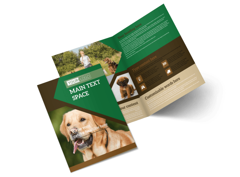 Pet Kennels Brochure Template Preview 1