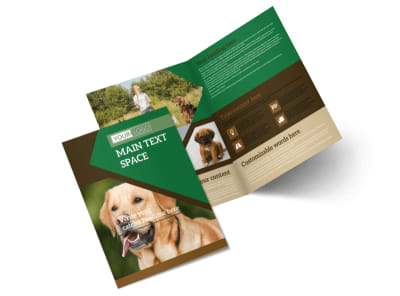 Dog Kennel & Pet Day Care Bi-Fold Brochure Template 2