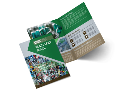 Litter & Recycling Center Bi-Fold Brochure Template 2 preview